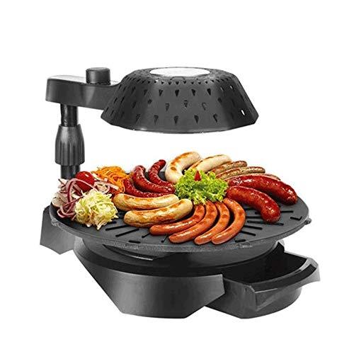 YFGQBCP 1300W 3D sin humo de la parrilla eléctrica, Bandeja de horno multifunción giratorio de 360 grados, la luz infrarroja Asador Grill, inteligente de control de temperatura, for la cocina casera
