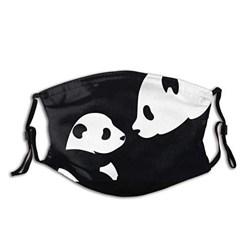 Máscara facial de Panda verde a prueba de polvo transpirable reutilizable bufanda lavable bandana protectora bebé panda animales lindo