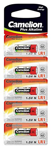 Camelion 11000501 - Plus Alkaline High Energy Batterie N/ LR1, Lady, mit 1,5 Volt, 5er Set, Kapazität 750 mAh