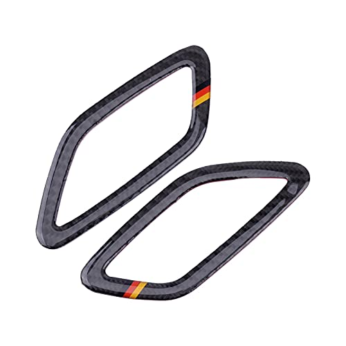 YANGAILIAN 2st Carbon Fiber med Tyskland Strips Bil Luftkonditionering Ventluten Outlet Cover Epoxy Fit For MERCEDES BENZ CLA GLA A CLASS Dekorband