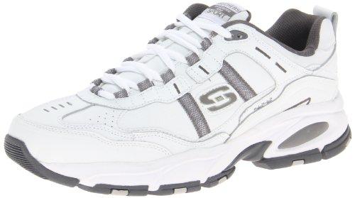 Skechers Sport Men's Vigor 2.0 Serpentine Oxford,White/Charcoal,10 2E US