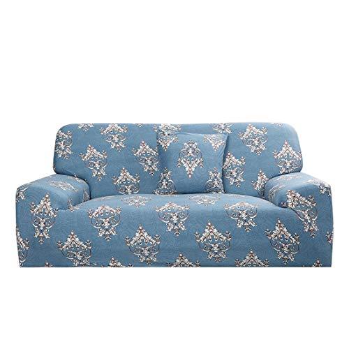 Uxcell - Funda protectora para sofá de 1 2 3 4 plazas, de poliéster elástico, tela de licra con ajuste suave
