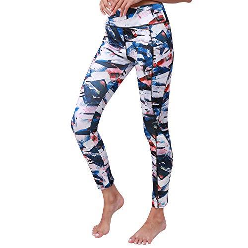 Panty's, joggingbroek, brede broeken, vrouwen, fitness, leggings, hardlopen, gym, stretch sportbroek Medium blauw