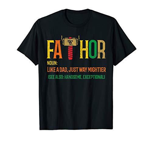 Fa-Thor Shirt Geschenk Vatertag & Männertag Hammer Held Hero