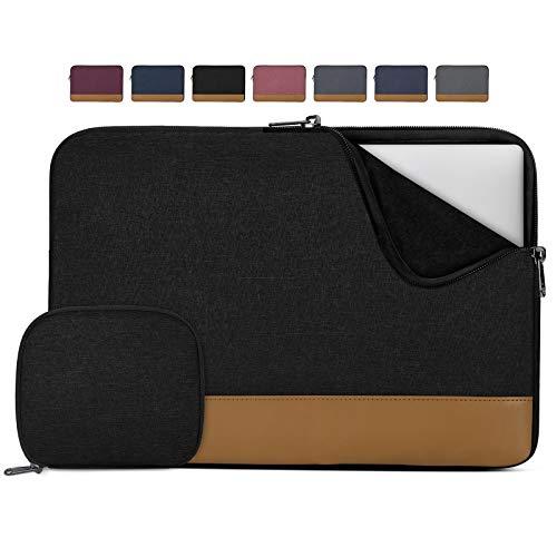Lubardy Custodia PC 14 Pollici Impermeabile Custodia per Macbook Air/Pro 13-14 Pollici Antiurto Borsa Porta PC con Borsa per Accessori Nero