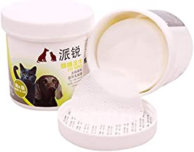 youeneom 200 Pcs Pet Eye Tear Stain Remover Wipes for Cats & Dogs Safe and Effective Cleansing Pads Natural Plant Wet Cotton Pet Wipes (Pack of 2) (White)