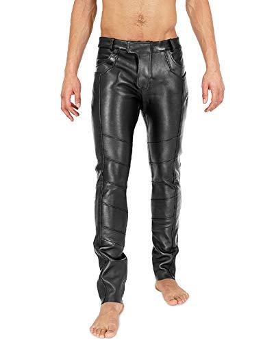 Bockle® Ricbo Aniline 501 Lederhose Herren Leder Jeans, Size: W30/L32