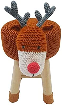 Pouf Cerf Animaux, Multicolore, 35cm x 27cm x 44cm