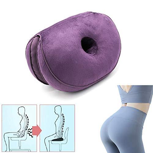 Dual Comfort Cushion, Lift Hips Up Memory Foam Seat Orthopedic...