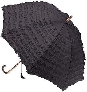 Clifton Umbrellas Charcoal FIFI multi frill Umbrella, Charcoal Grey