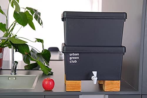 Lombricompostera Pro | Vermicompostera, Biocompostera 48L | 100% Plástico Reciclado de Alto Impacto