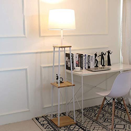 SOSERFL staande lamp, modern wit slaapkamer bed verticaal rekken vloerlamp woonkamer hout, ijzer sofa, salontafel staande lamp afmetingen: 30 * 30 * 170cm