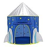MIFXIN Rocket Ship Play Tent Kids Children Playhouse Astronaut Space Tent Castle Knight for Boys Girls Indoor Outdoor Pop Up Rocket Tent Fort