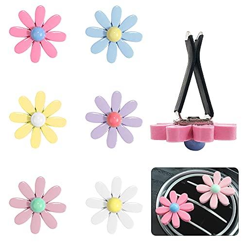 DanziX 6 piezas mini flores encanto ventilación accesorios para la mayoría de coches