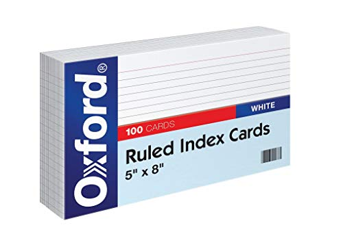 "Oxford Ruled Index Cards, 5"" x 8"", White, 100/Pack (51) (2 Pack)"