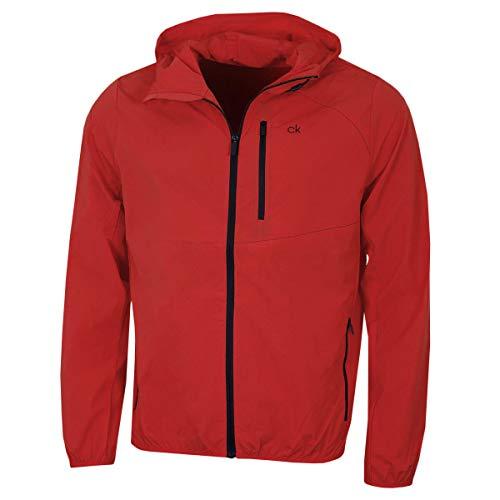 Calvin Klein Golf Herren Ultra-Lite Leistung Water Resistant Jacket - Rot - XL