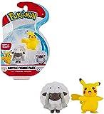 Pokémon Figuras de Batalla Female Pikachu & Wooloo 5 cm | Última Ola 2021 | con Licencia Oficial de Pokemon