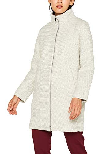 ESPRIT Collection Damen 089EO1G021 Mantel, Grau (Pastel Grey 5 054), Small (Herstellergröße: S)