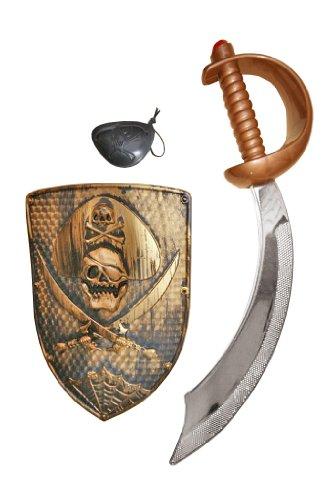 Seruna Z3 dague épée dague de pirate sabre de pirate sabre bouclier de pirate bouclier cache-oeil article carnaval carnaval