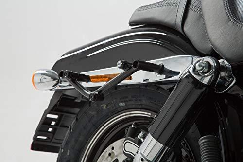 SW Motech, HTA.18.794.11000SLC Lado portaequipajes para Harley Davidson Dyna Fat Bob 2008, Negro, 1