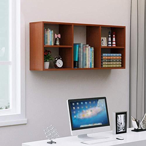 Weinregal aus Holz Kreative Einfachheit Wandmontage Modren Simple Storage Ungekühlt Haltbar Leicht zu Lagern J1029, HJJ, Teak, 120 × 24 × 50 cm