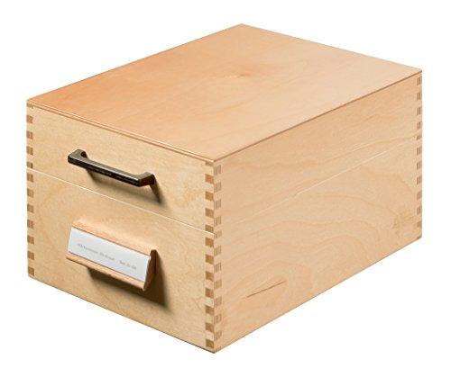 HAN Karteikasten 506, DIN A6 quer aus Holz / Hochwertige Lernkarteibox aus edlem & robustem Naturholz für 900 DIN A6 Karteikarten / Ideal zum Vokabeln lernen & als Lehrmaterial
