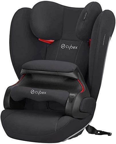 Cybex Silver Seggiolino auto per bambini Pallas B-Fix, Per auto con e senza ISOFIX, Gruppo 1/2/3 (9-36 kg), Da 9 mesi ca. a 12 anni, Nero(Volcano Black)