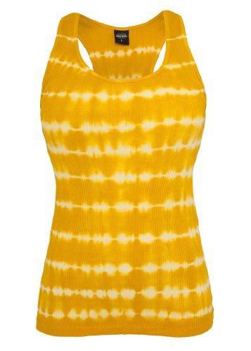 Urban Classics Ladies Batik Tank Top, white/orange, M
