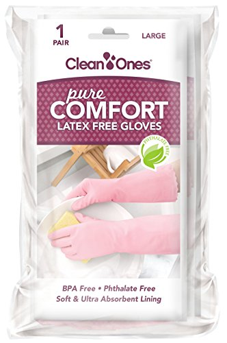 Clean Ones Pure Comfort Latex Free Vinyl Gloves - Small 6pr