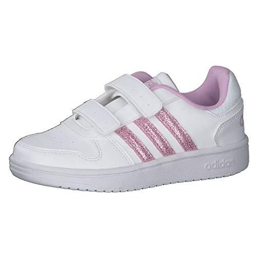 adidas Hoops 2.0 CMF C, Zapatillas de Baloncesto, FTWBLA/LILCLA/Gridos, 35 EU