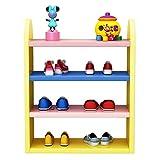 dxjsf Almacenamiento de Zapatos Rack de Zapatos for niños Suministros de la habitación Perfecta for niños Rack de Zapatos de 4 Capas 3 Colores for Elegir Soporte de Zapatos (Color : Yellow)
