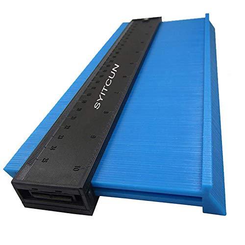 Calibre de contorno azul 25 cm ancho Perfilador de plástico duplicador de contornos Medidor de Contornos con Bloqueo calibre de contorno irregular para una medición precisa