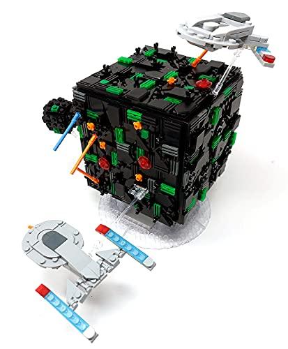 Borg Cube Diorama, Bausteine Raumschiff, Klemmbausteine Bauset
