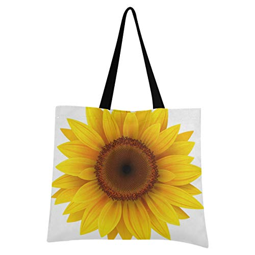 XIXIXIKO - Bolsa ligera de lona con estampado de girasol, para la playa, para mujeres, niñas, compras, gimnasio, playa, viajes, diario