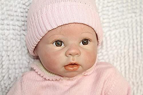 ZIYIUI 55 cm 22 inch Reborn Baby Dolls Fille Réaliste Souple en Silicone Réaliste Bébés Cadeau d'anniversaire pour Enfants