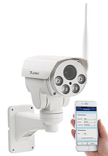 7links IP Cameras: PTZ-Full-HD-IP-Überwachungskamera, WLAN, Nachtsicht, 5X-Zoom, IP66 (WLAN IP Überwachungskameras)