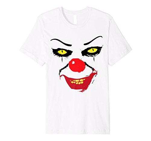 It 's a scary Clown Kostüm Gesicht auf einem TShirt für Halloween