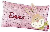 Sigikid 40993 - Babykissen Bungee Bunny mit Namen beschriftet