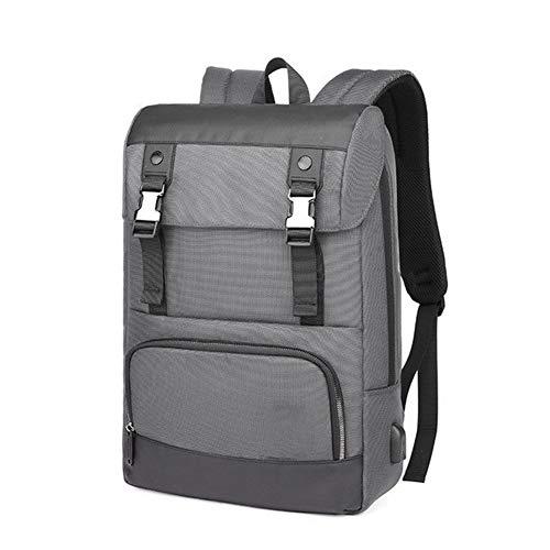 Yi-xir Mochila de diseño de moda para ordenador portátil, diseño universitario adolescente, mochila impermeable unisex de 39,6 cm, ligera y duradera (color: gris, tamaño: XL)