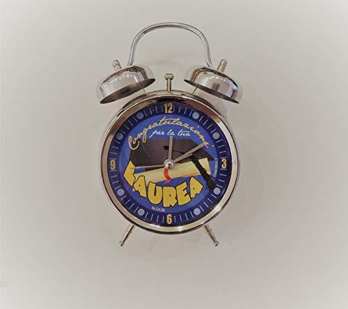 Orologio Laurea, in Metallo, Alto 18 cm Blu e Nero. per urgenze contattare Il Venditore