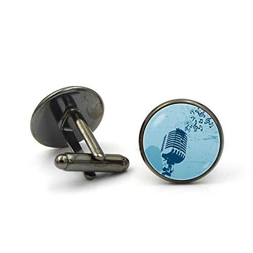 LiqianHOT Exquisite Accessoires, Microfoon Sieraden Manchetknopen Zingende Spraak Manchetknopen Sieraden