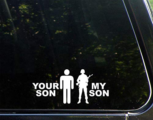 """Diamond Graphics Your Son/My Son Military (7"""" X 3"""") Die Cut Decal Bumper Sticker for Windows, Cars, Trucks, Laptops, Etc."""