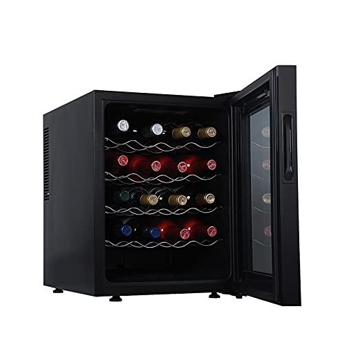 LONGRING Vinotecas Refrigerador De Vino Mini Nevera Bebidas Bodega Grand Sommelier para Vinos y Enfriadores de Vino Enfriador Independiente LED Lights,20 Bottles