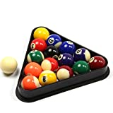 Funky Chalk Small Pool Balls & Triangle Set-1 5/8' Inch-41mm Economy Spots & Stripes-Juego de Bolas de Piscina y Triangle, 41 mm, Unisex Adulto