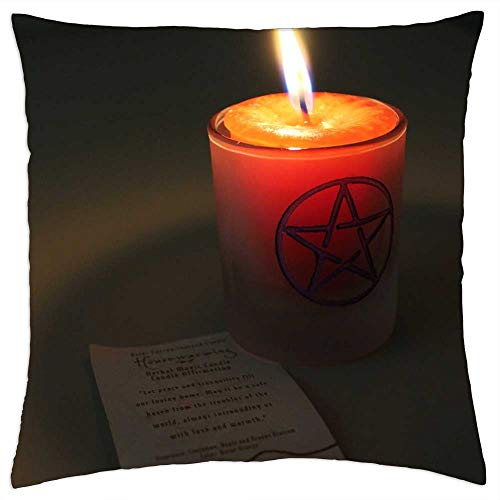 LESGAULEST Throw Pillow Cover (24x24 inch) - Candle Magic Candle Magick Flame Spell Occult