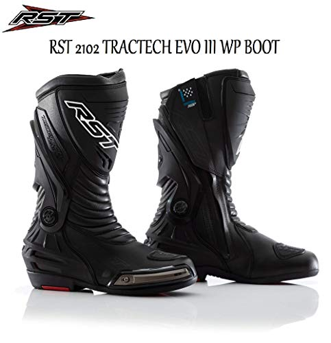 Black Moto Sport CE Waterproof BootsAll Sizes RST Tractech Evo 3 Black