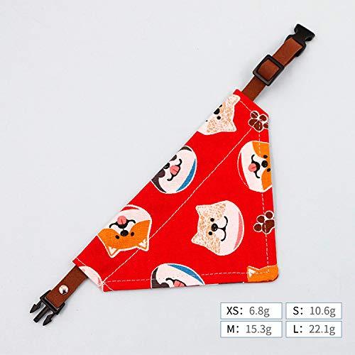 MYYXGS Hundeschal Haustier Dreieck Schal Hundeschal Katzenhalsband Weihnachten Kleiner Hund Speicheltuch