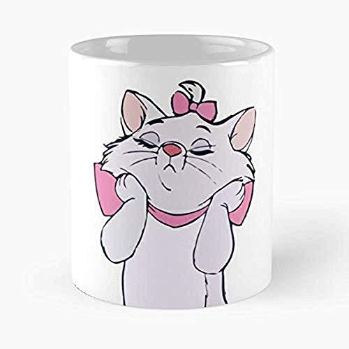 Aristocat Aristogatos Marie Sassy Tazas De Café Taza de cerámica exclusiva de la novedad para los días de fiesta 11 oz.