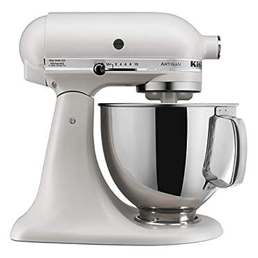 KitchenAid KSM150PSMH Artisan Stand Mixers, 5 quart, Matte Milkshake