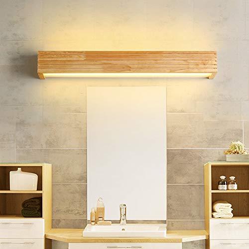 De enige goede kwaliteit Decoratie Nordic Houten Spiegel Voorlicht Moderne Minimalistische LED Vochtbestendig Badkamer Spiegel Kast Lampen Groothandel Houten Dresser